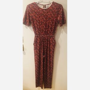 NWT Super Cute Old Navy Velveteen Floral Jumpsuit